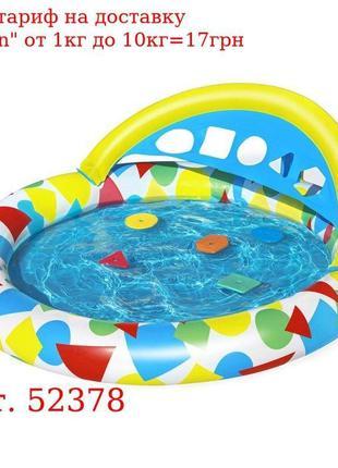 BW Бассейн 52378 детский, круглый, 120-117-46см, игрушки 5шт (...