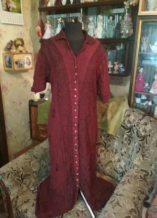 Длинное летнее платье-халат большого размера. производство индии.