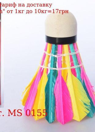 Воланчик MS 0155 перьевой, цветной, 1 упаковка 12шт, в колбе, ...