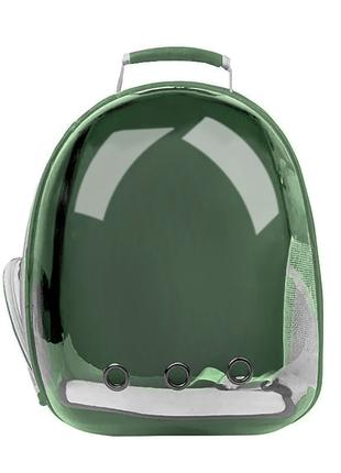 Рюкзак-переноска для кошек Taotaopets 253304 Panoramic Green 3...