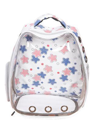 Рюкзак-переноска для кошек Taotaopets 257707 White Panoramic S...