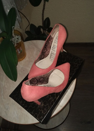 Замшевые туфли лодочки New Look