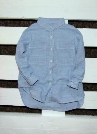 Трендова сорочка в полоску zara girls ріст 116