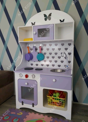 Дитяча кухня, кухня для дівчинки, детская кухня