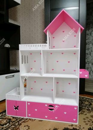Домик для кукол, кукольный домик для Барби, ЛОЛ, ляльковий буд...