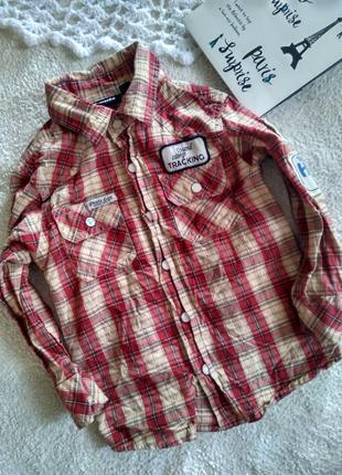 Обалденная рубашка на 1-2 года