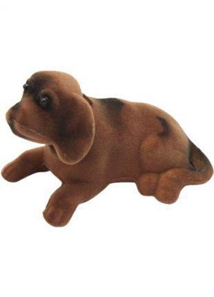 Собачка с шатающей головой, коричневый