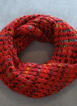 Зимний шарф-хомут