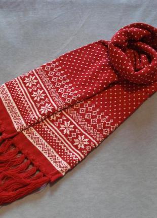 Зимний вязаний шарф