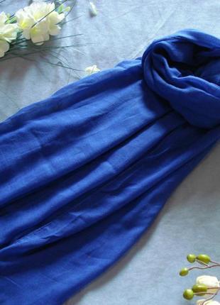 Шарф-палантин кобальтового синего цвета