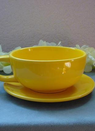 Чашка-супница с блюдцем