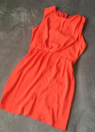 Помаранчеве плаття topshop petite
