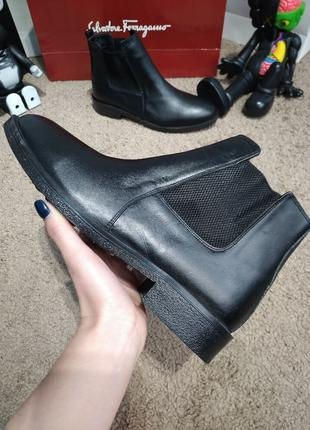 Ботинки Zara Classic Leather Boots Black