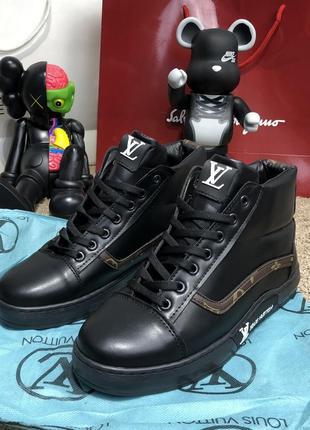 Ботинки Louis Vuitton Oberkamf Sneakers Monogram/Black