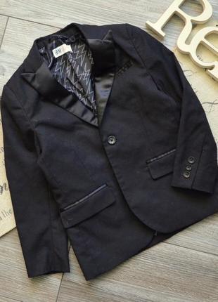 Пиджак стильный с молниями h&m 5-6л
