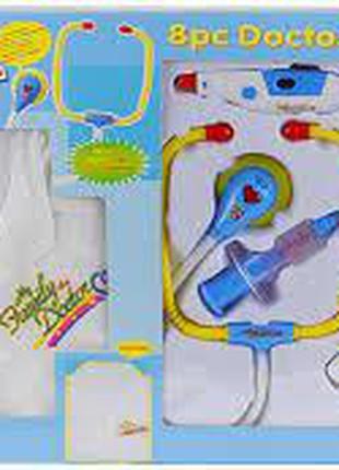 Игровой набор доктора с халатом, свет, звук, 9911BC, для детей...