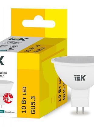 Лампа світлодіодна LED ALFA MR16 10Вт 230В 4000К GU5,3 IEK (LL...