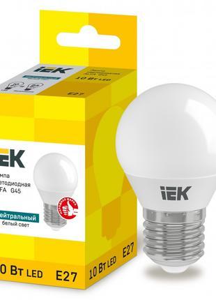 Лампа світлодіодна LED ALFA G45 куля 10Вт 230В 4000К E27 IEK (...