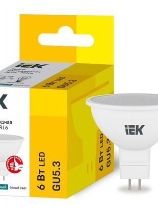 Лампа світлодіодна LED ALFA MR16 6Вт 230В 4000К GU5,3 IEK (LLA...