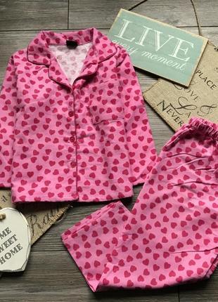 Пижама в сердечки girls essentials 4-5л