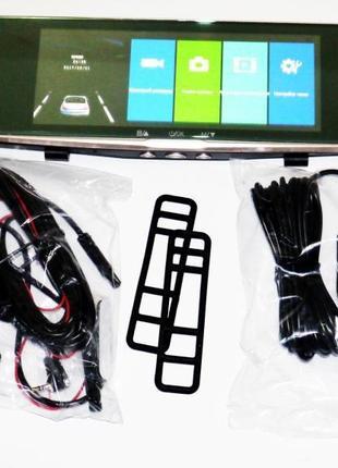 DVR L1002С Full HD Зеркало регистратор с камерой заднего вида