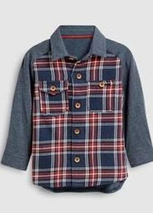 Реглан рубашка next 1,5-2г