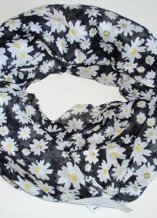 Снуд женский шарф хомут в цветы легкий бренд accessoires c&a, ...