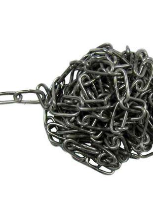 Ланцюг металевий, без покриття 5м d=4мм ТМ УКРАЇНА