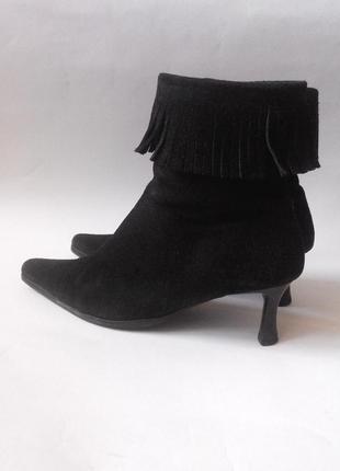 Ботиночки утеплённые натуральная замша, 38 размер