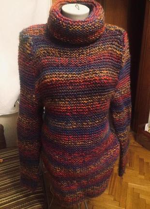 Очень теплый свитер,крупной вязки,шерсть