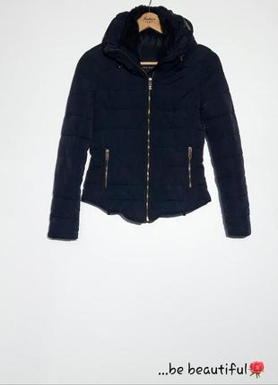 Темно синяя куртка зимняя куртка от zaraкуртка демми xs