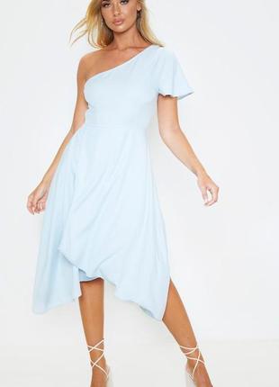 Ликвидация товара 🔥   голубое асимметричное мили платье на одн...