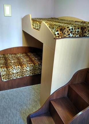 Детская мебель спальня двухярусная двухэтажная, 2 кровати