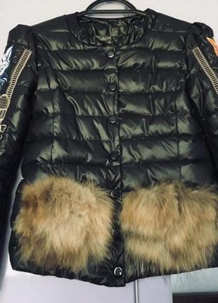 Куртка с натуральным мехом💖