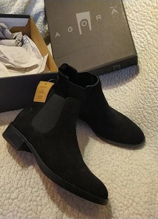 Кожаные ботинки челси. италия