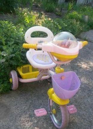 Детский трехколесный велосипед для девочки 2-6 лет