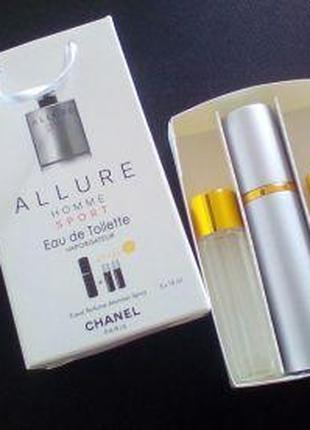 Allure Sport подарочный набор духи мужские 3 флакона по 15 мл