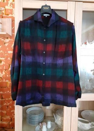Натуральная шелковая блузка рубашка большого размера