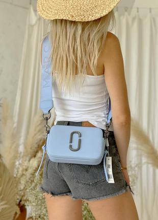 Шикарная женская сумка mark jacobs sky blue наложенный платёж
