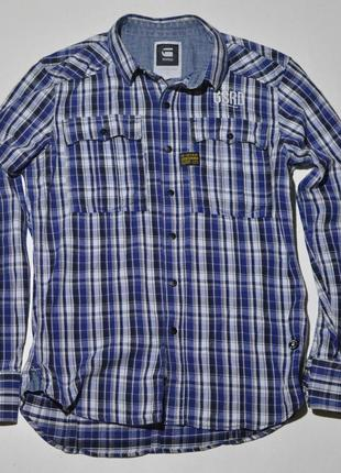 Рубашка g-star brass rewind shirt ls casual