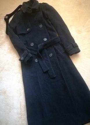 🖤 длинное кашемировое пальто  тренч zara🖤