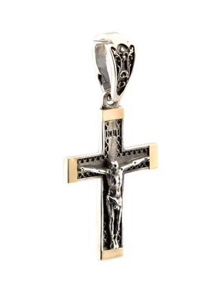 Серебряный крестик (с золотыми накладками)