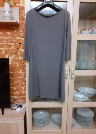 """Вискозное платье с вырезом """"лодочка"""" большого размера"""