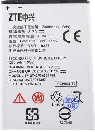 Аккумулятор к телефону ZTE Li3712T42P3h634445 1200mAh