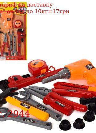 Набор инструментов 2944 дрель, плоскогубцы, молоток, ключи, че...
