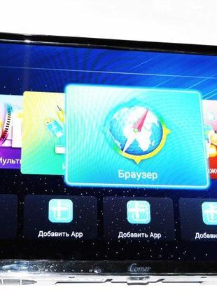 "LCD LED Телевизор Comer 24"" Smart TV, WiFi, 1/4Gb, T2, USB"
