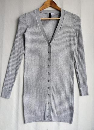 Кардиган-платье в рубчик h&m