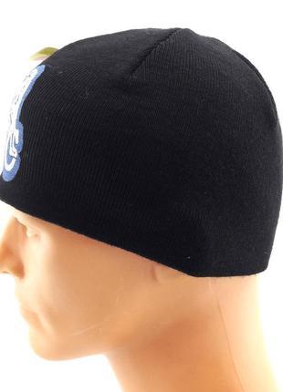 Вязаная шапка мужская двойная