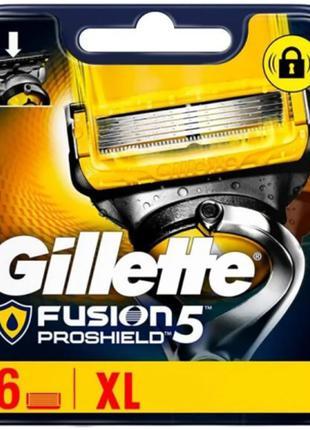 Сменные кассеты для бритья Gillette Fusion5 ProShield 6шт Лезв...