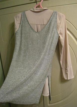 Стильный женский комплект блуза с майкой